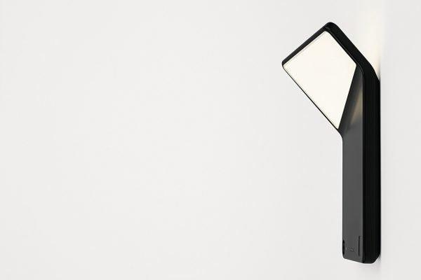 Winglet CL mit Bewegungsmelder und Helligkeitssensor, schwarz seitlich