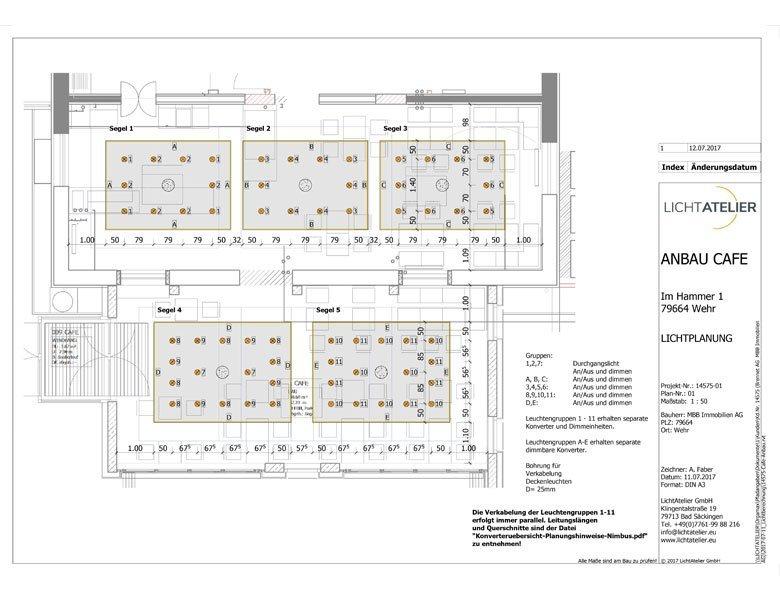 Cafe Denkpause CAD-Lichtplanung